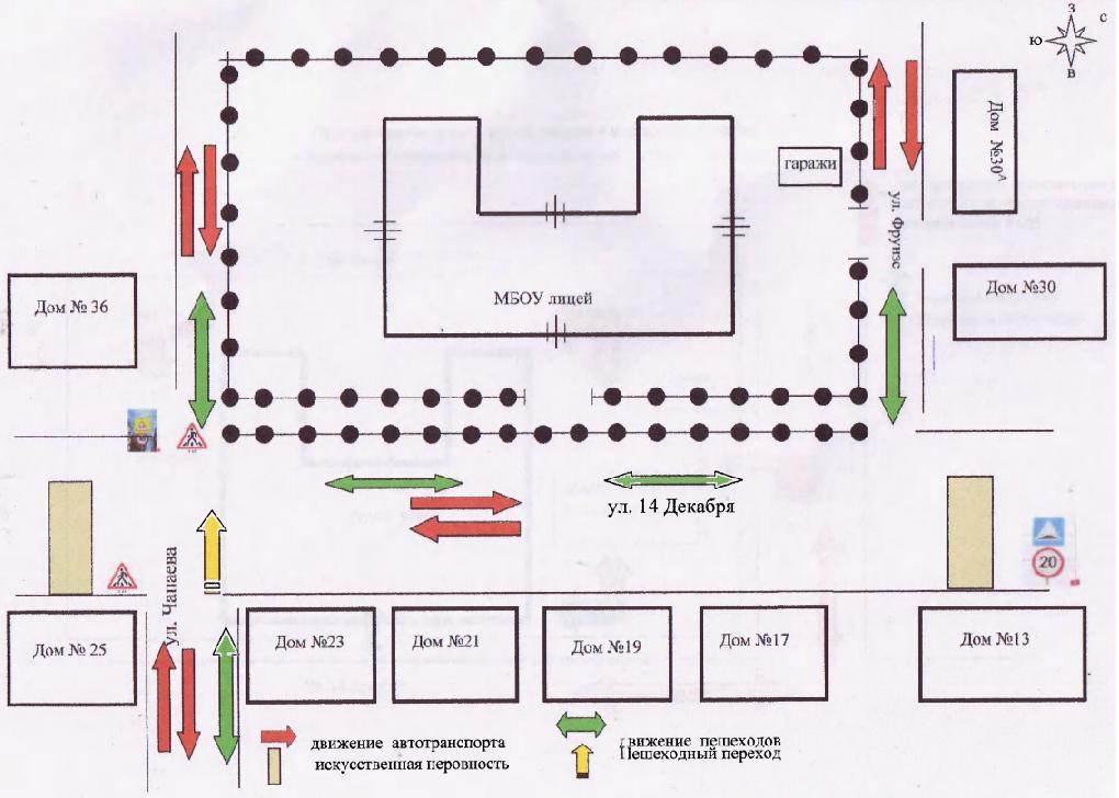 Схема безопасного дорожного
