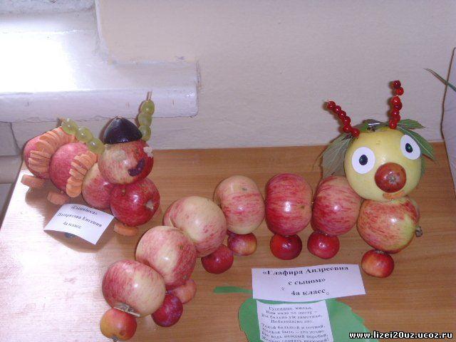 Поделки из овощей и фруктов видео как